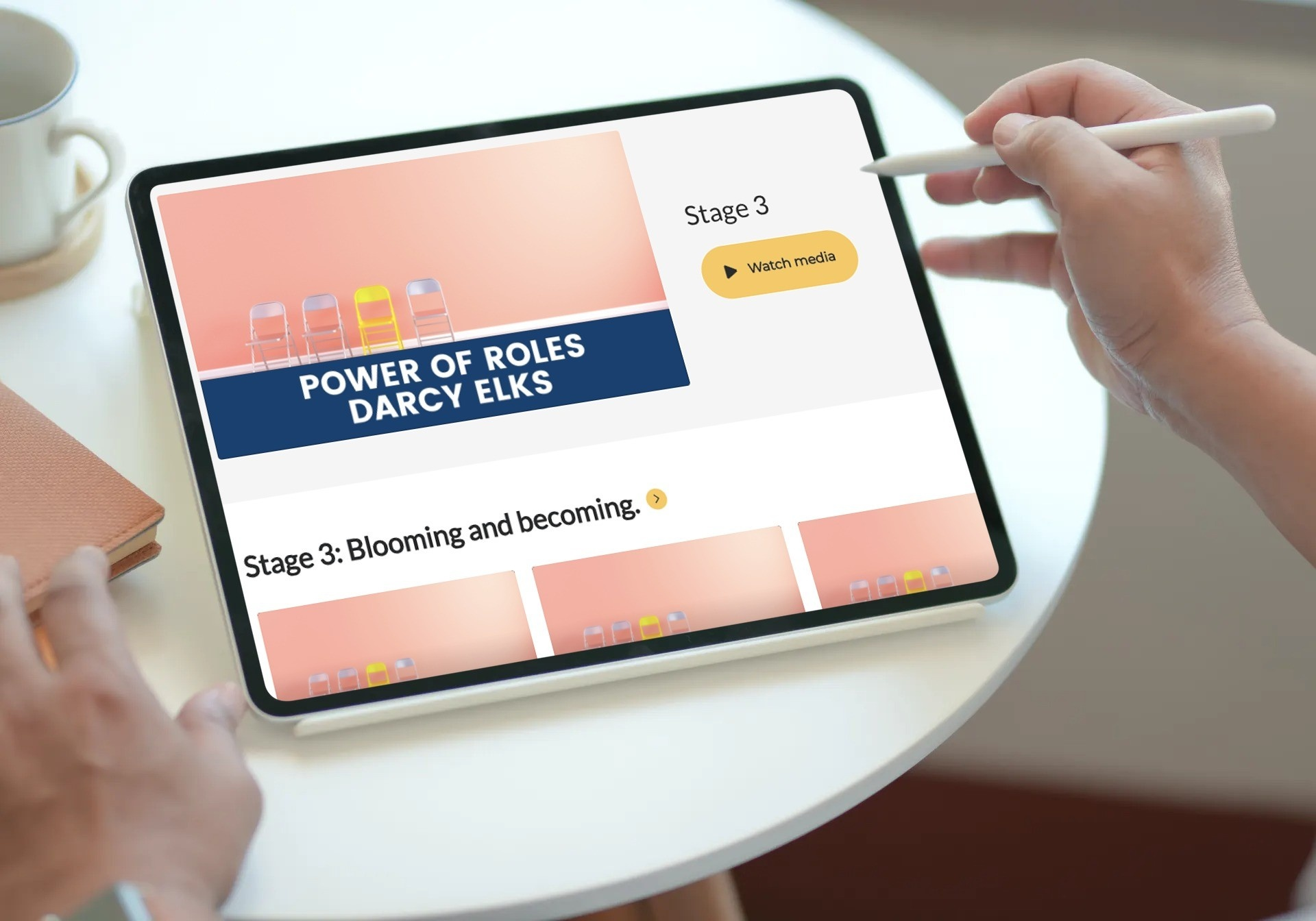 iPad with video options
