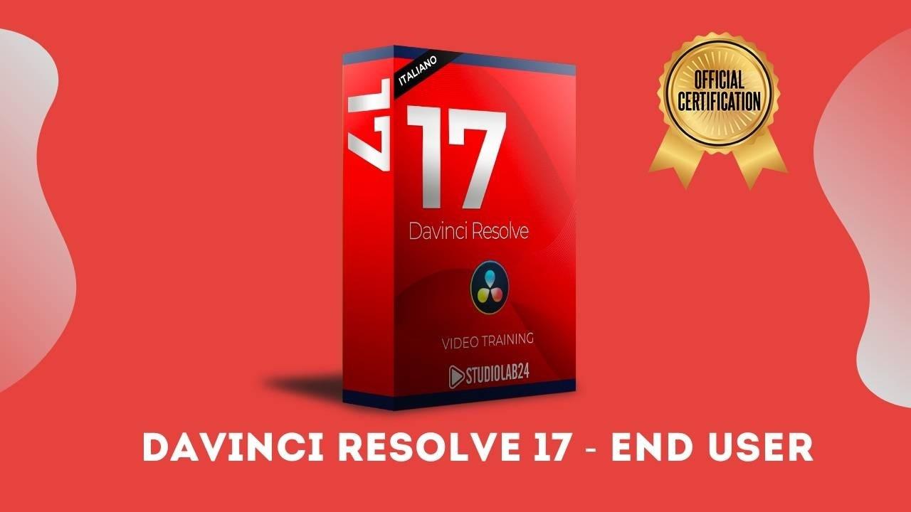 Davinci Resolve 17 End User video corso