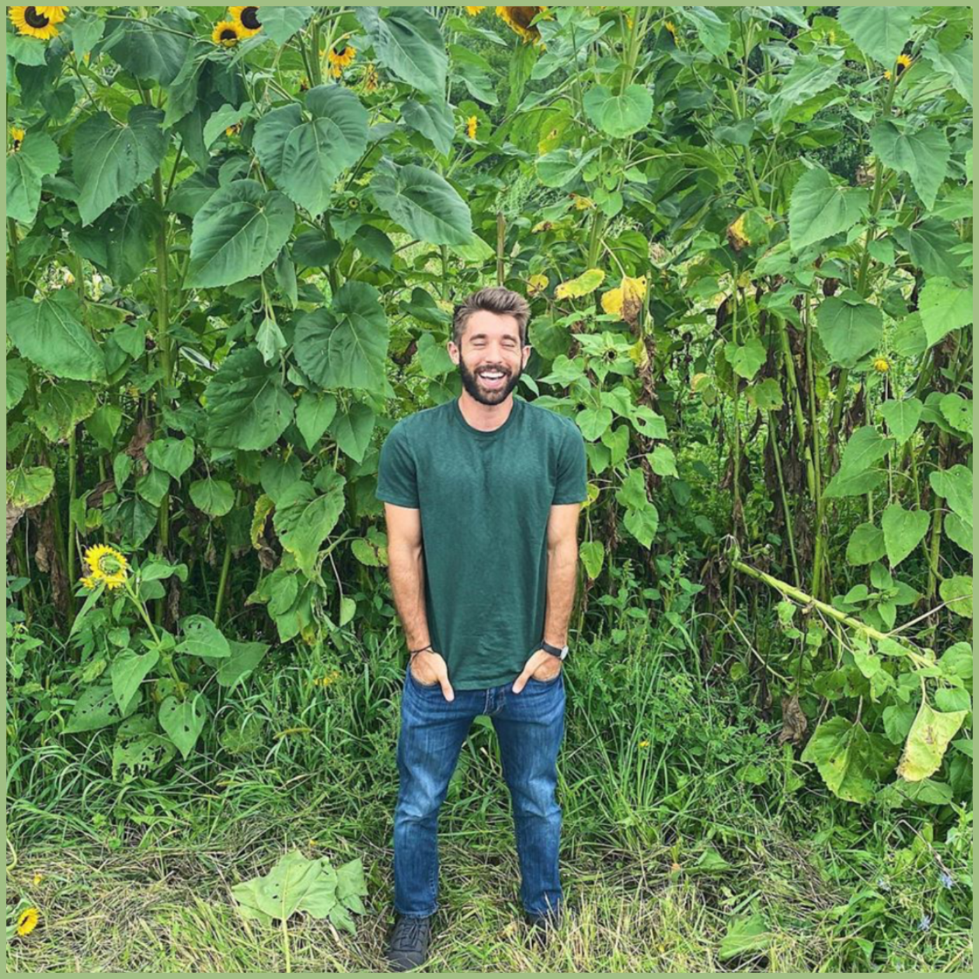 Farmer Nick standing in sunflower field - Viva La Flora Live Podcast