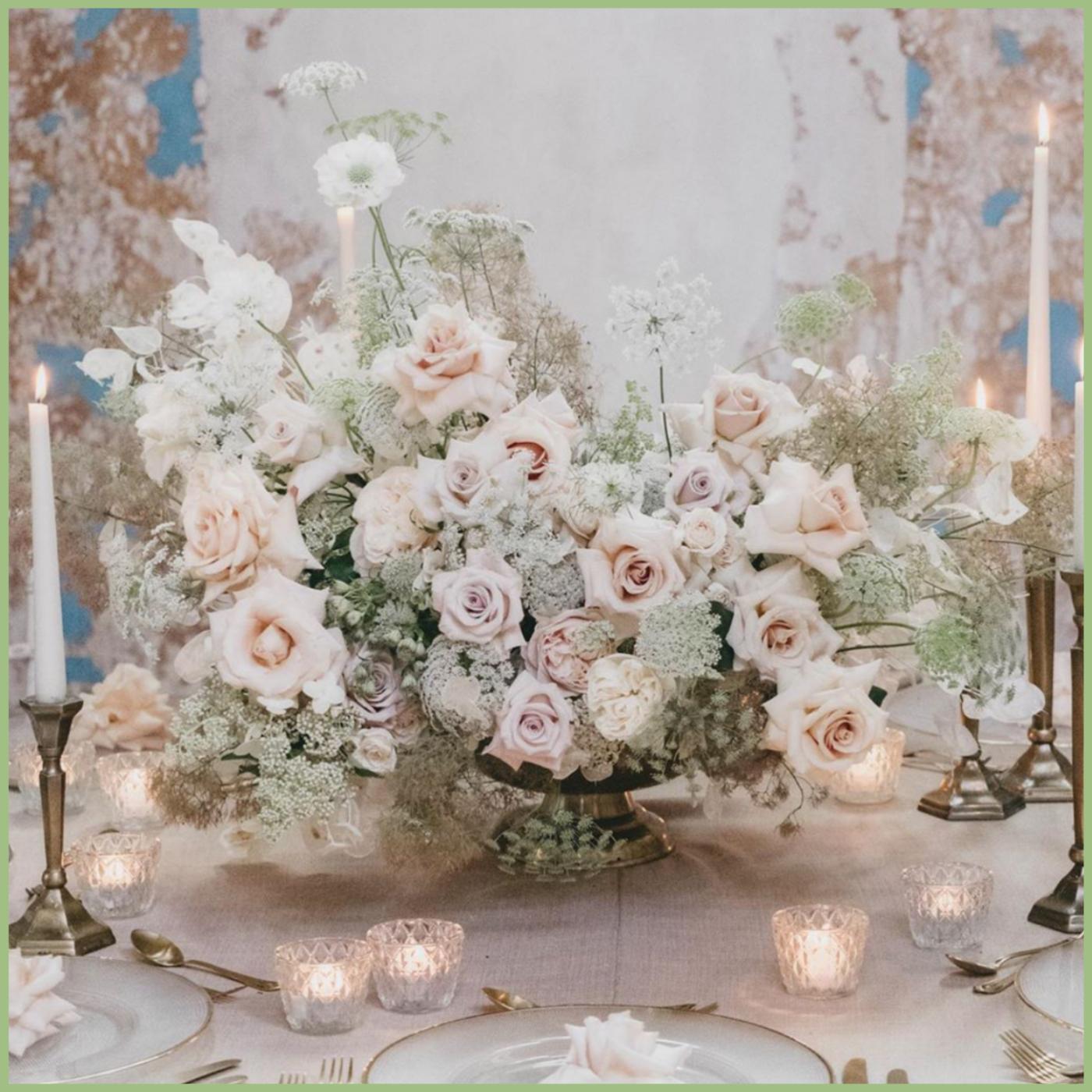 Floral arrangement blush garden style - Viva La Flora Live Podcast