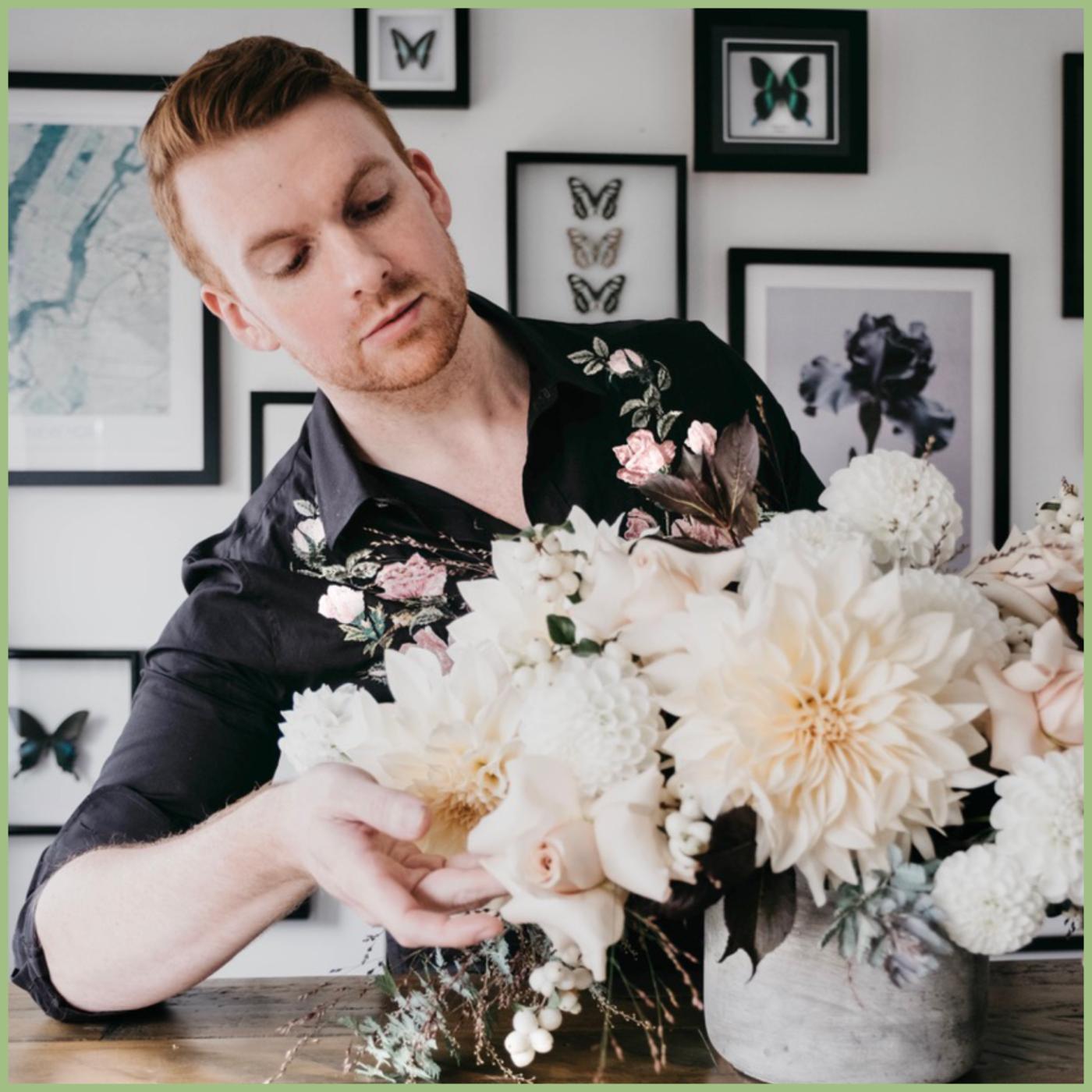 Joseph Massie designing flowers - Viva La Flora Live Podcast