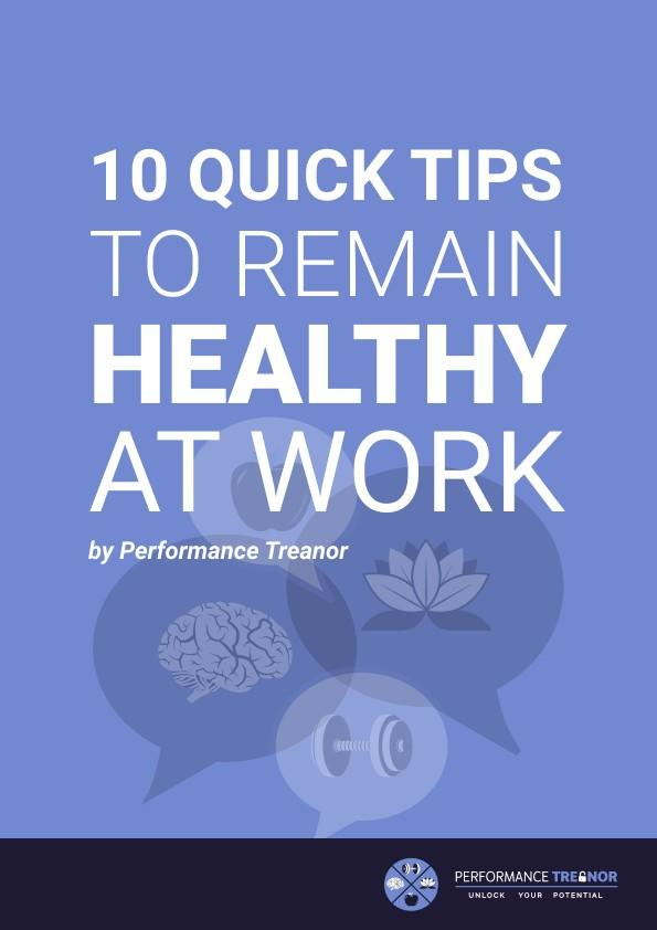 10 tips to remain healthy at work ebook cover