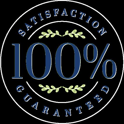 Satisfaction 100% guaranteed seal