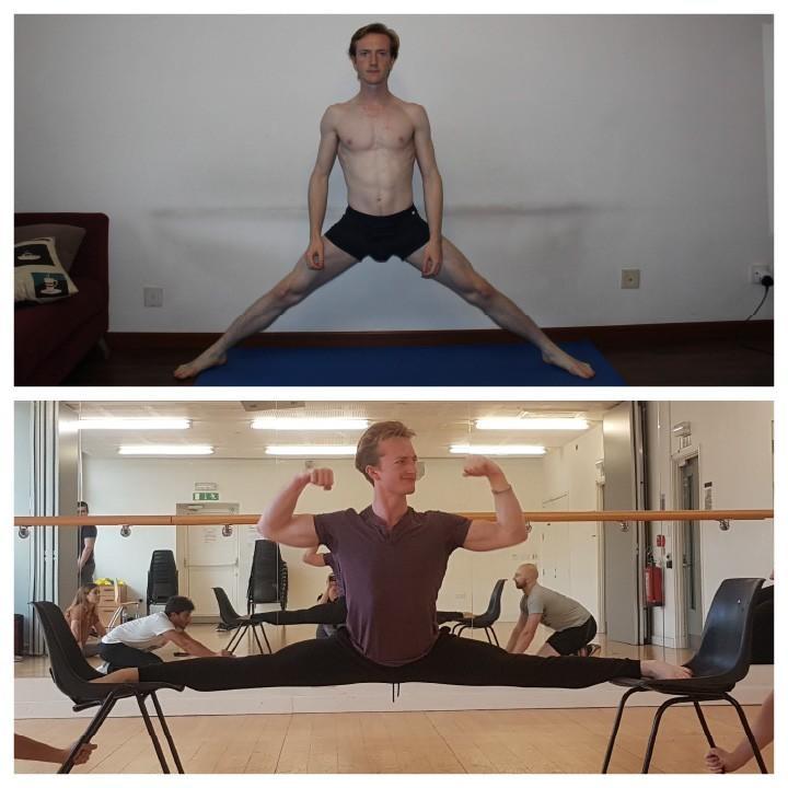Matt side split before and after