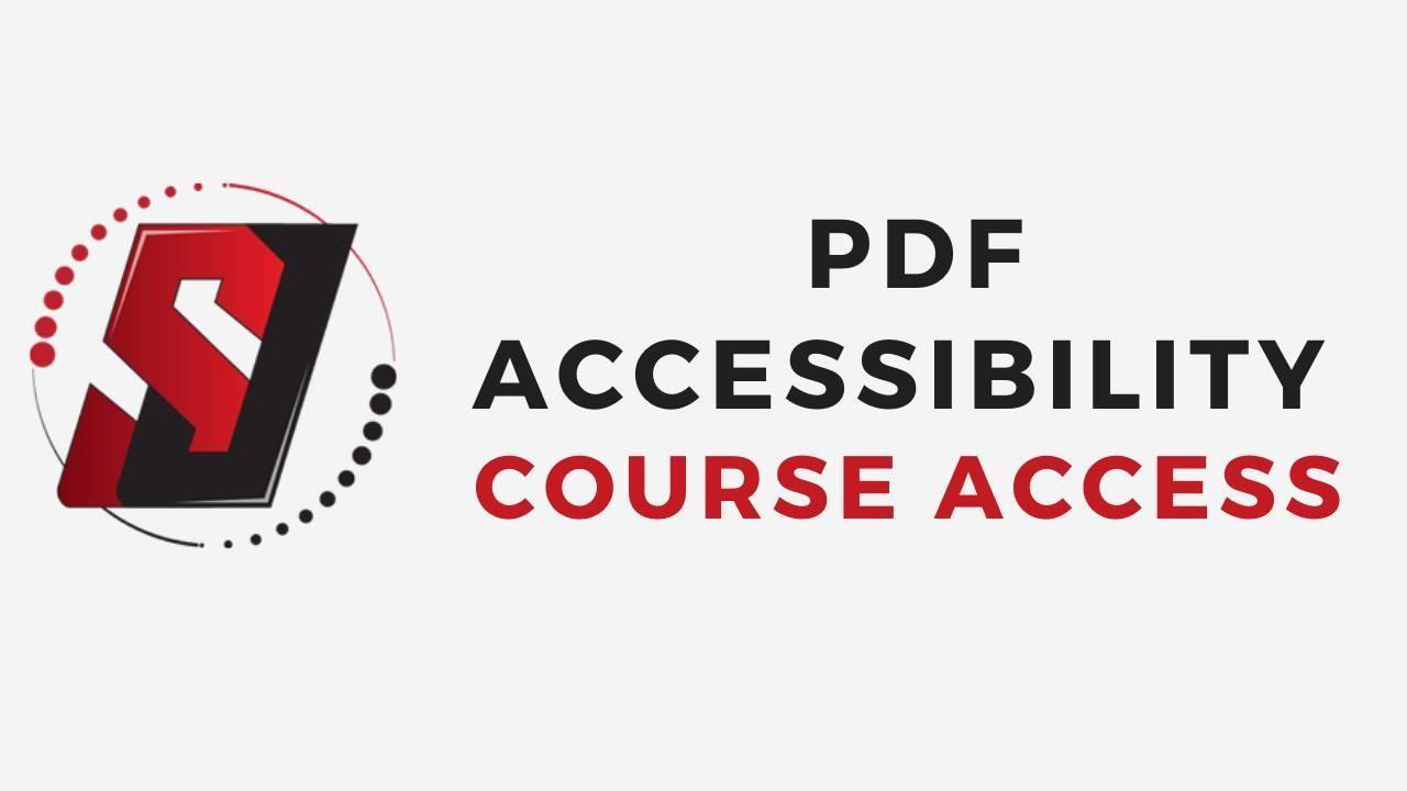 PDF Accessibility Course Access