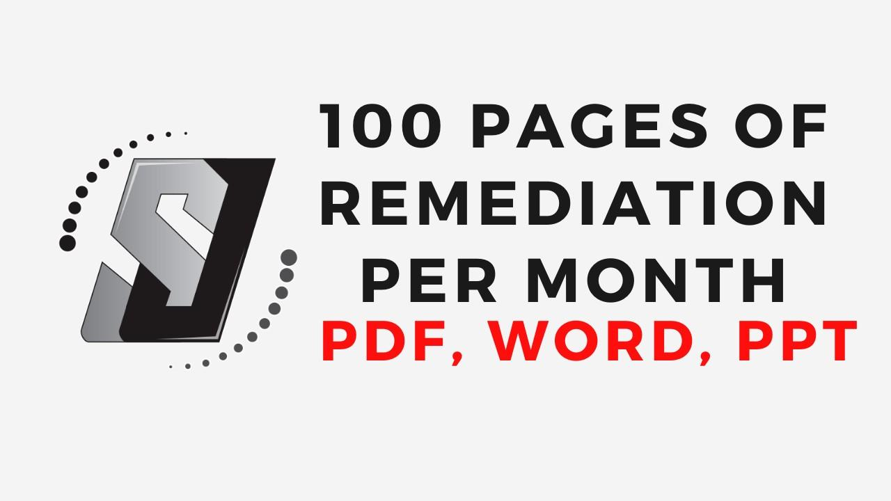 100 pages of remediation per month