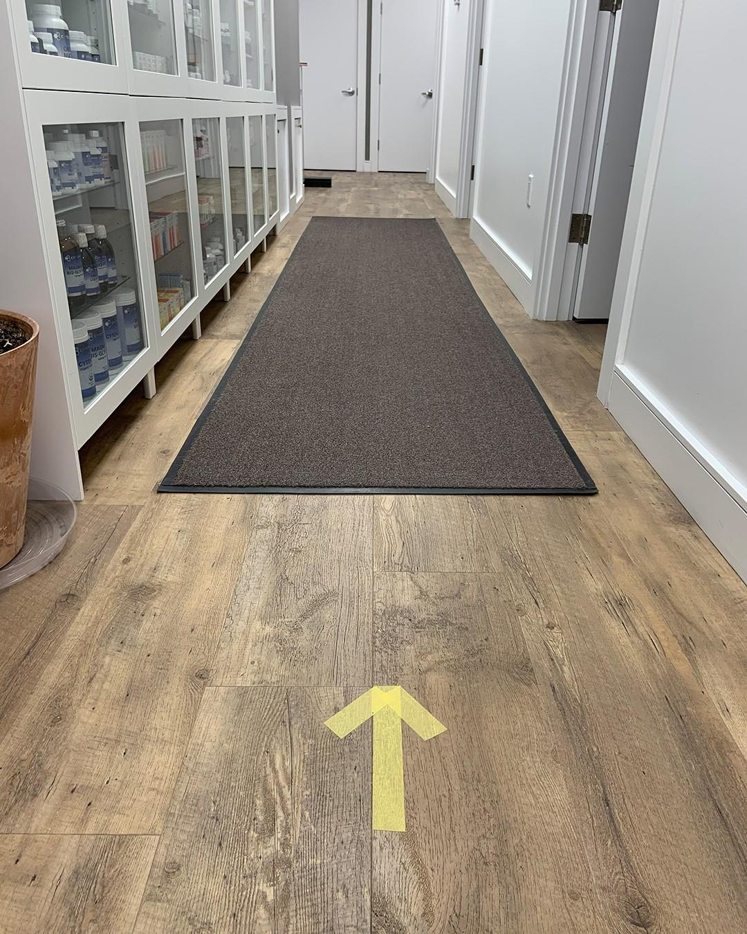 directional arrow on floor