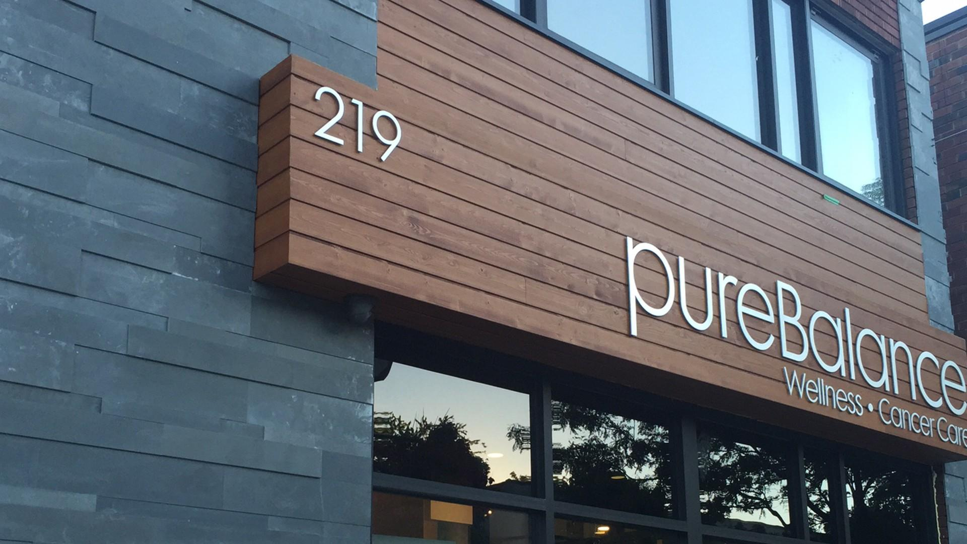 picture of exterior of pureBalance Wellness Cancer Care Building