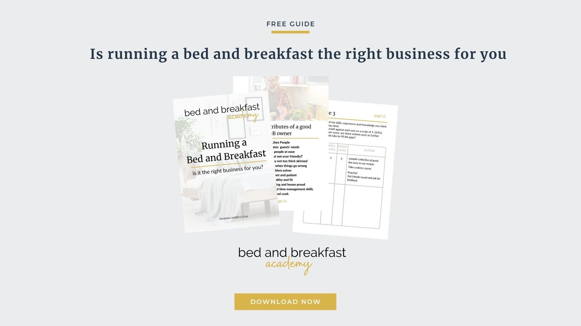 iPhone Mockup with text bed and breakfast academy Running a bed and breakfast - is it the right business for you