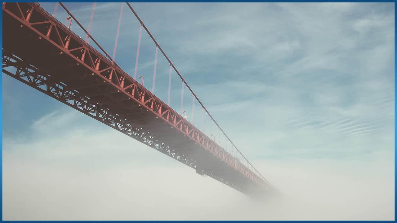 Bridge on a cloudy day
