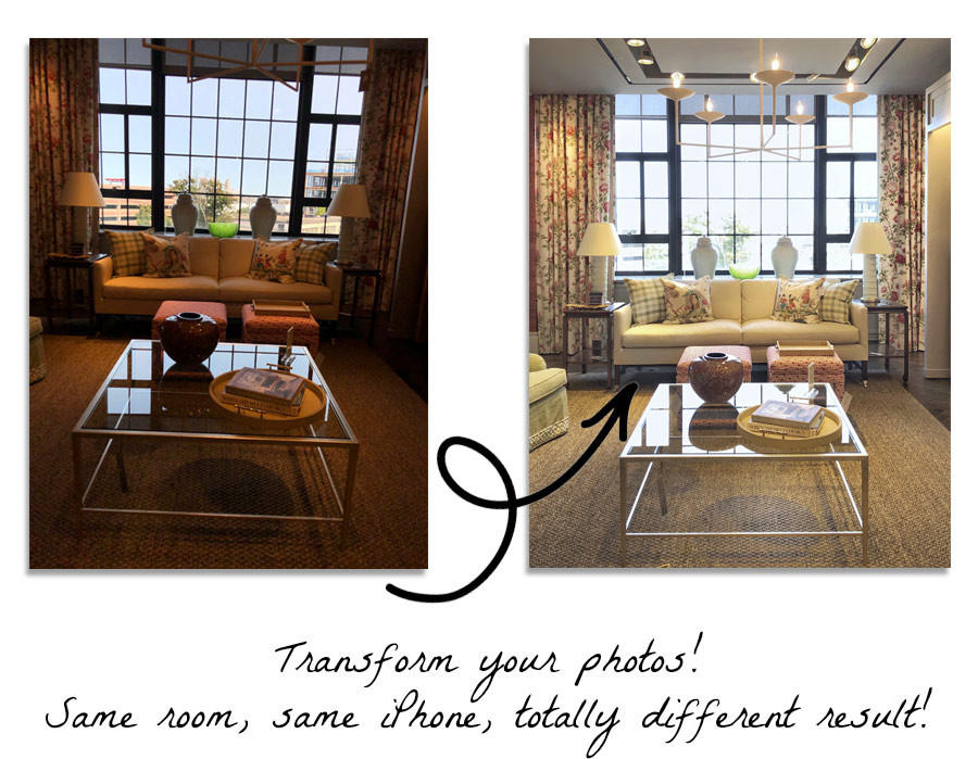 Transform your photos! Same room, same iPhone, totally different result!
