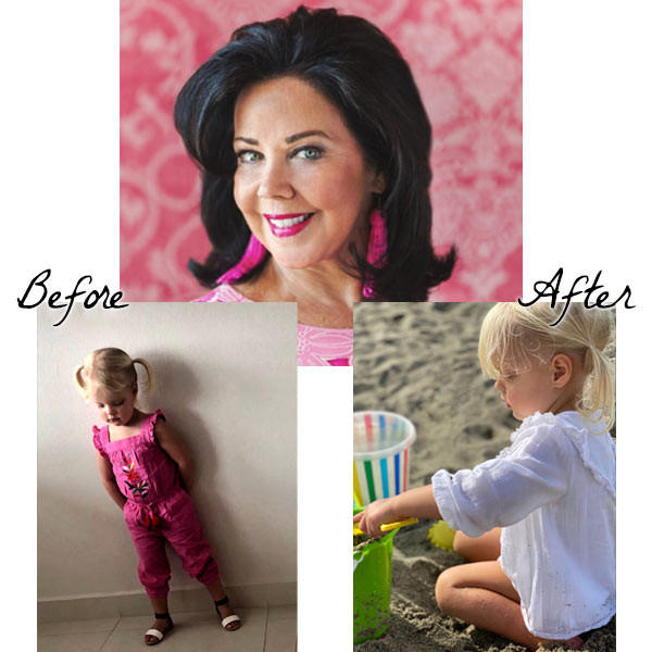 Pamela Copeman before and after