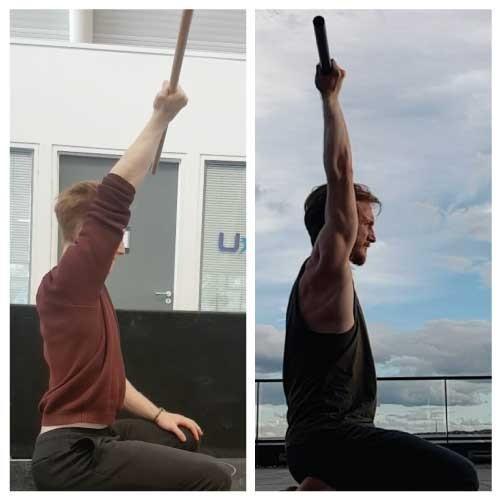 Matt shoulder flexion before and after