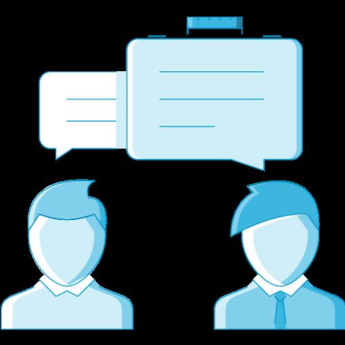 team members communicating icon