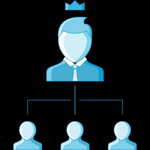 leadership diagram icon