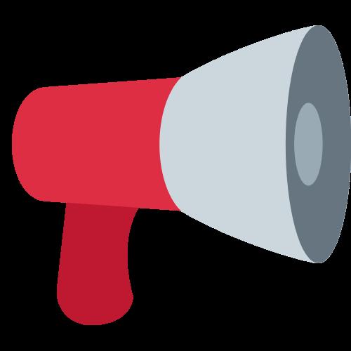 Decorative megaphone icon