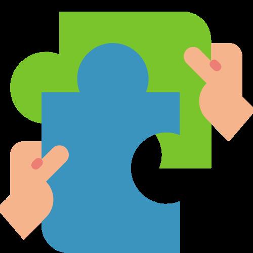 Decorative puzzle piece icon