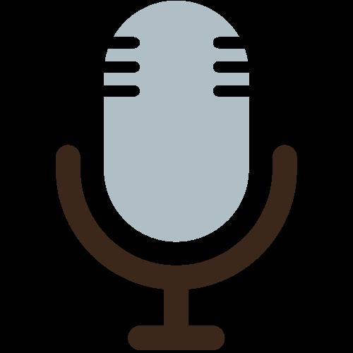 decorative microphone icon