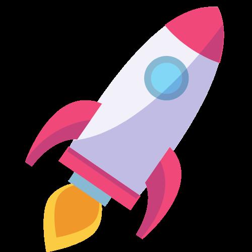 Decorative rocket ship icon