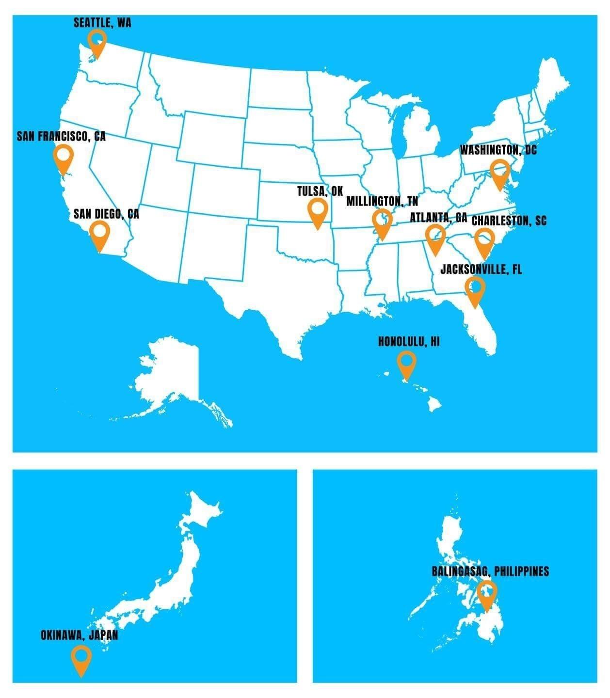 Trident Locations