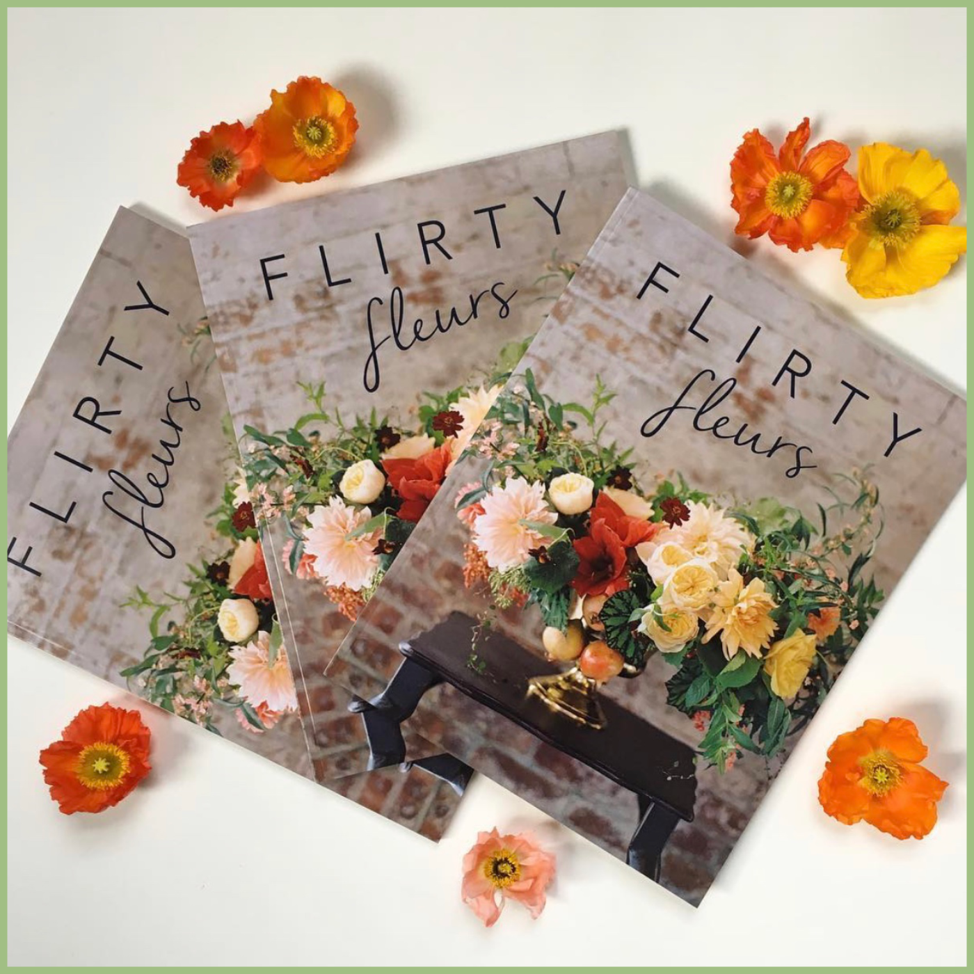 flowers on a cover of a magazine