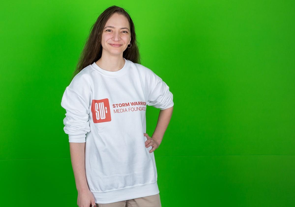 Storm Warriors White Sweatshirt
