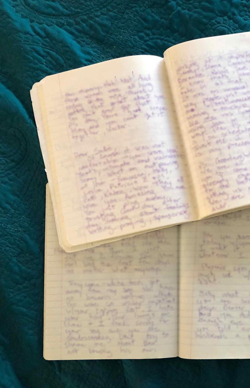 Sally Bartlett's written journal books