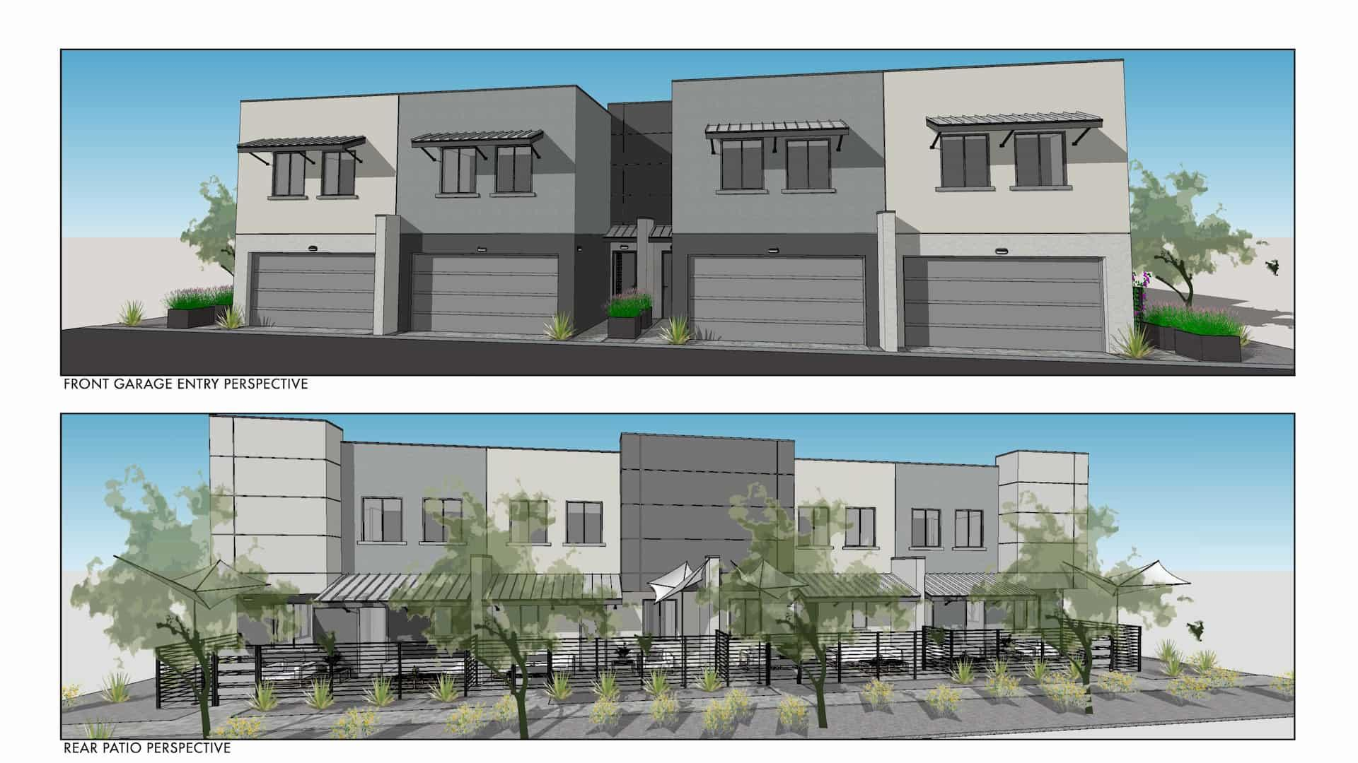 83rd & Thomas Townhome Rendering