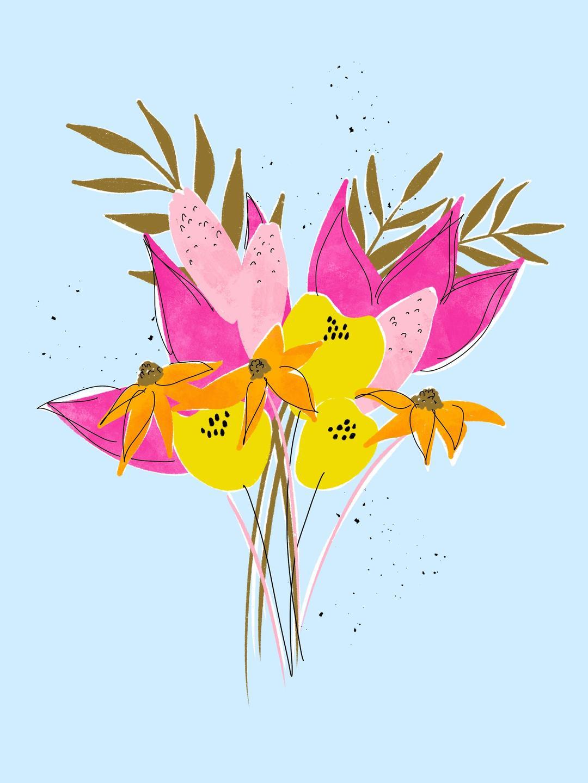 bright flower art
