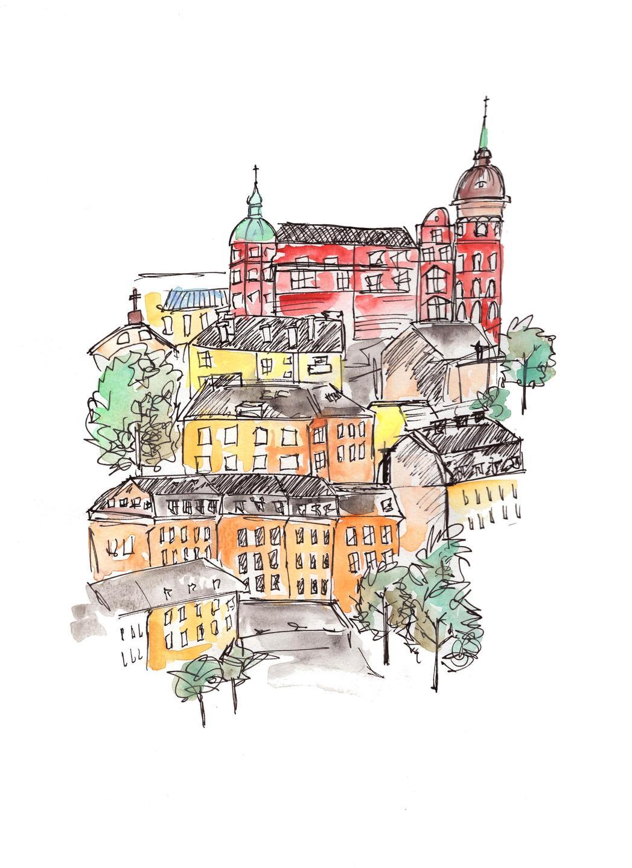 stockholm urban sketching