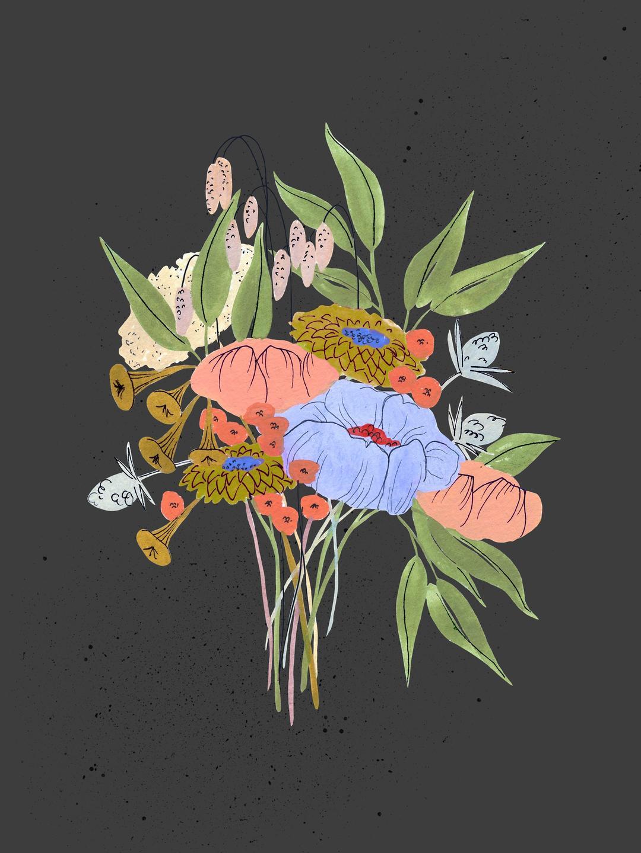 dark bouquet art