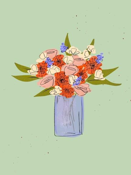 flower illustration bouquet