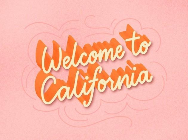california lettering