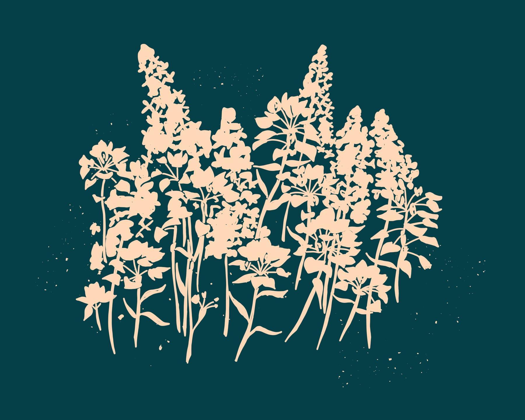 flower silhouette art