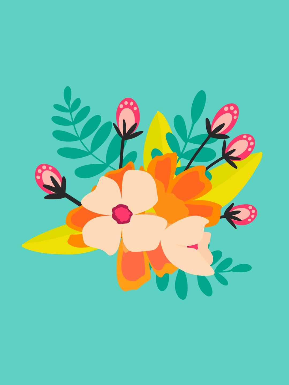 colorful flower art