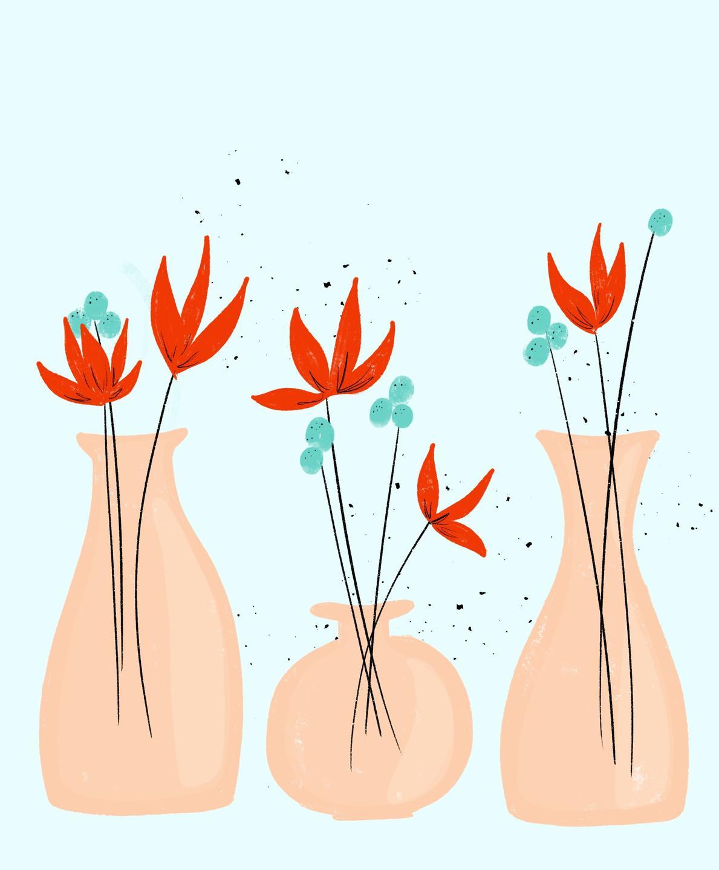 flower vase art