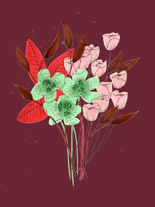 moody flower art