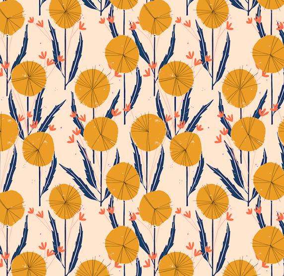 retro flower illustration