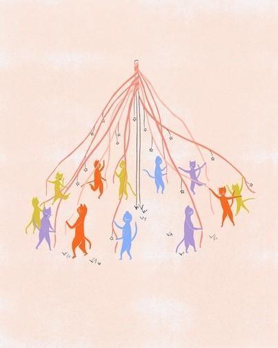 maypole illustration
