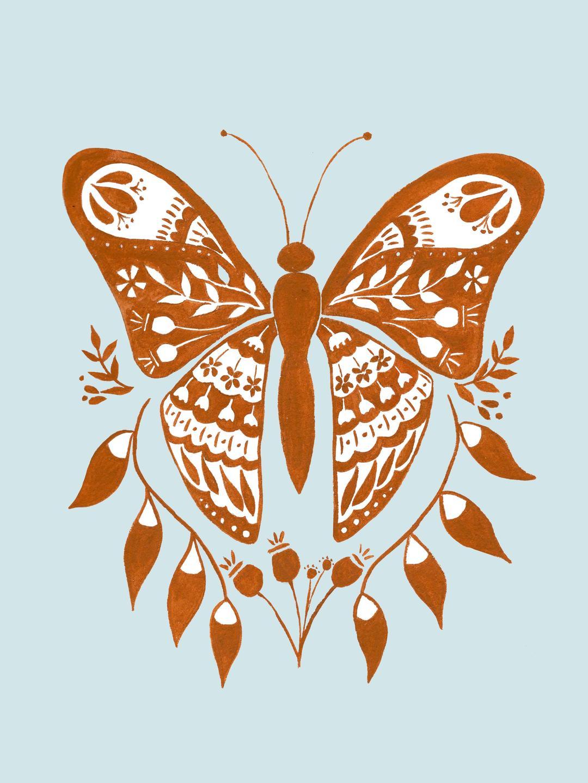 butterfly folk art
