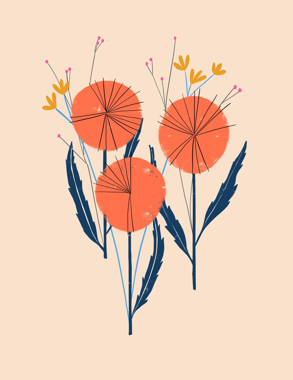 modern flower illustration