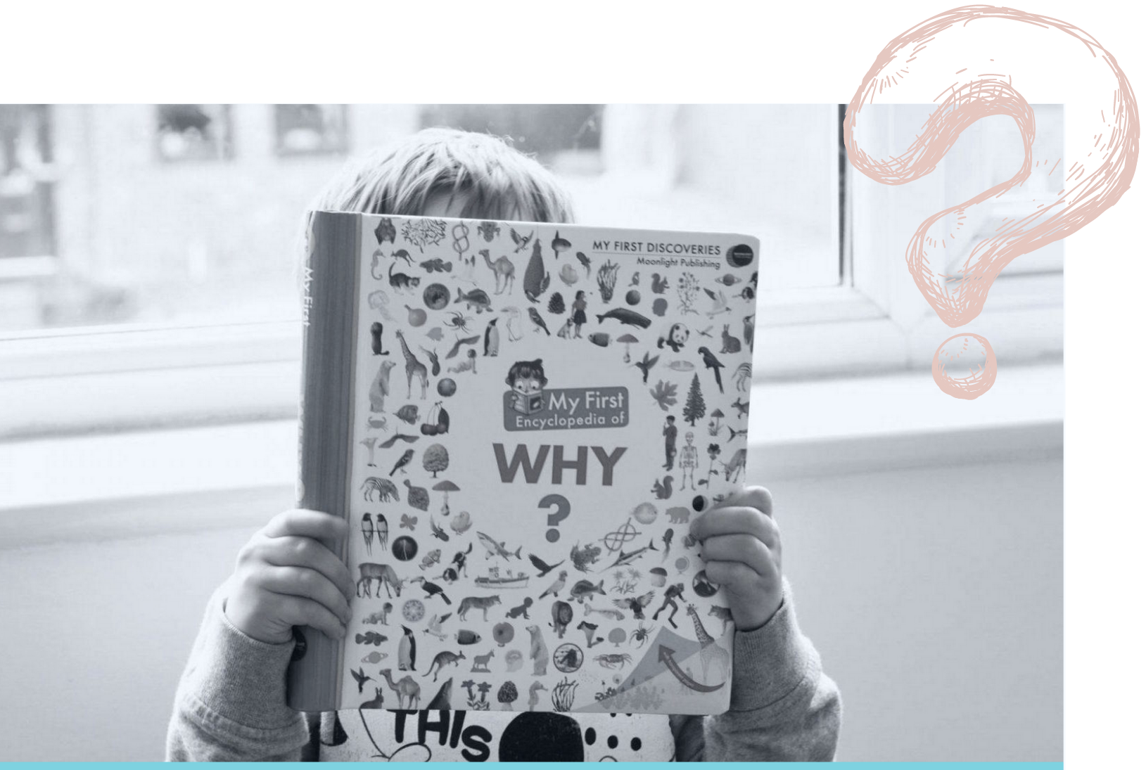Child reading Encyclopedia of Why book