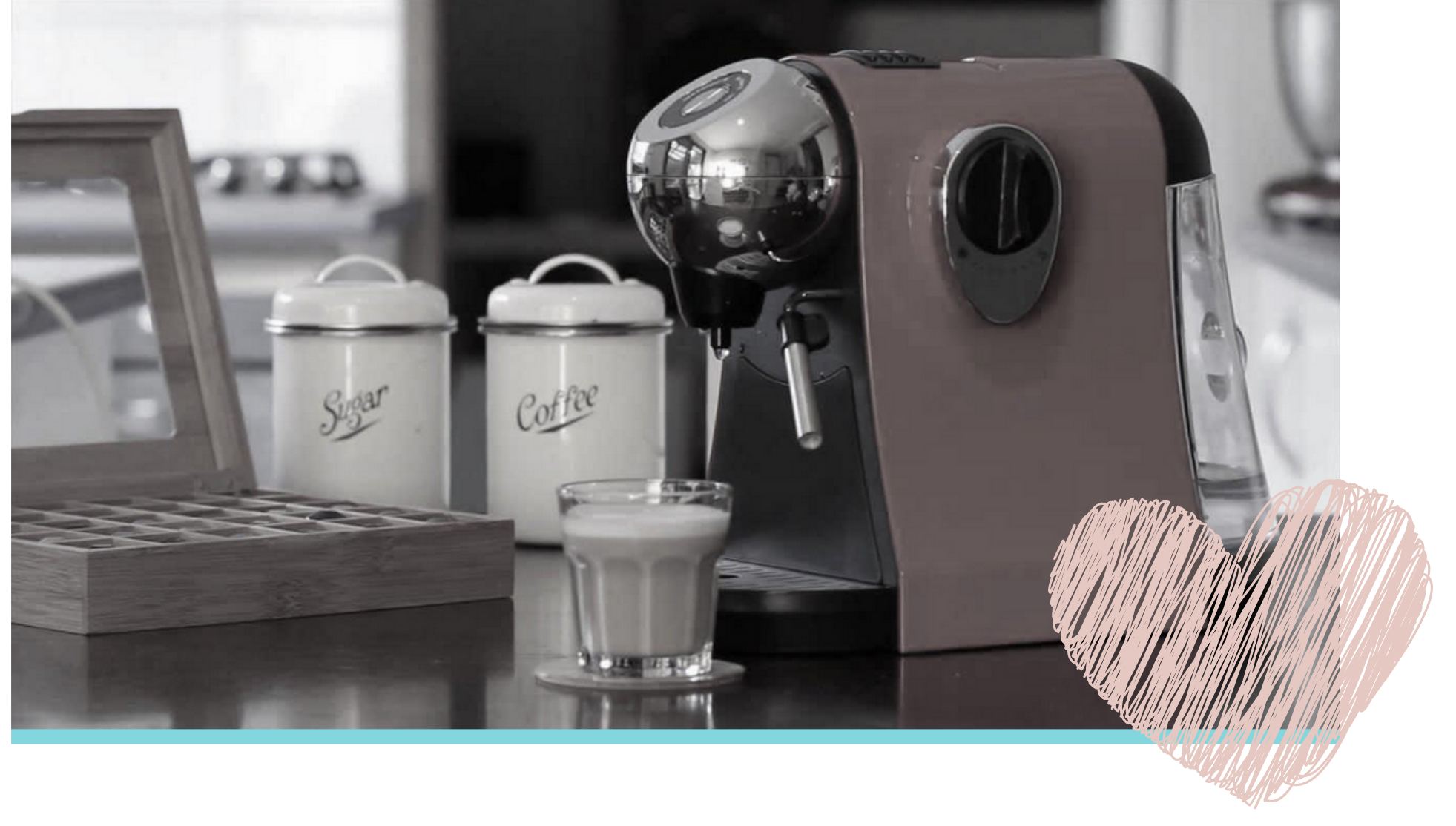 Image of coffee machine in Penny's office