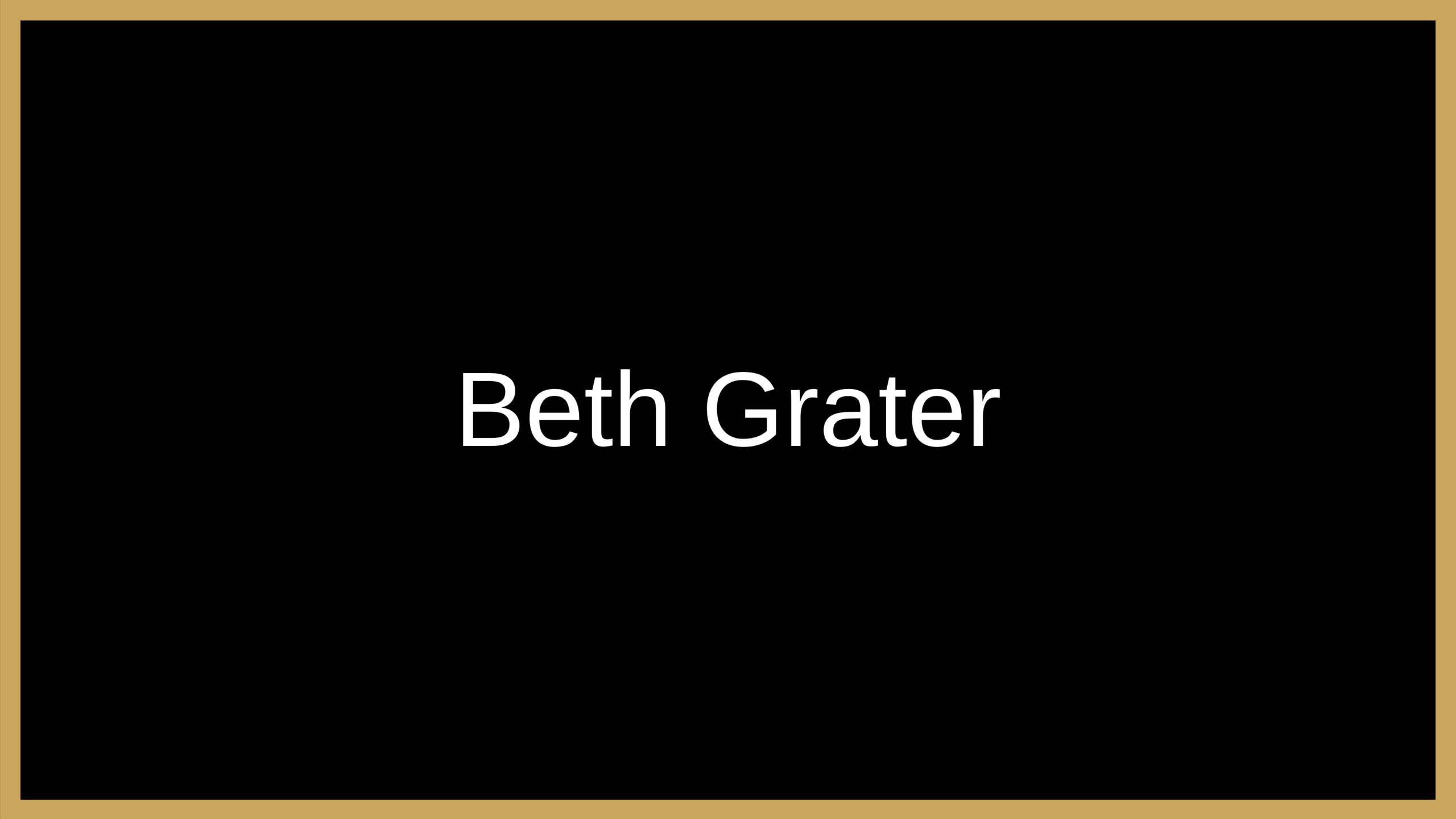 Beth Grater