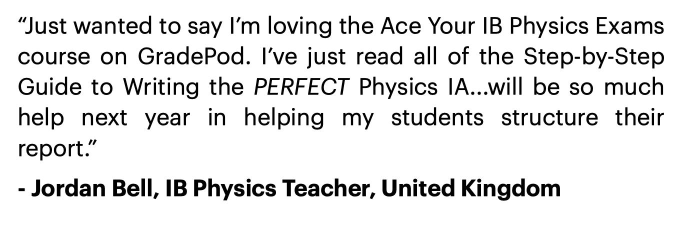 IB Physics IA Guide Review 5