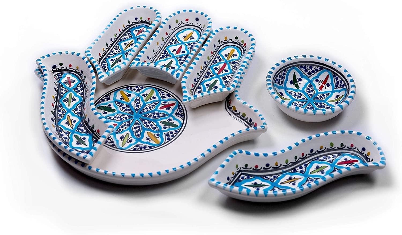 Kamsah ceramic appetizer platter