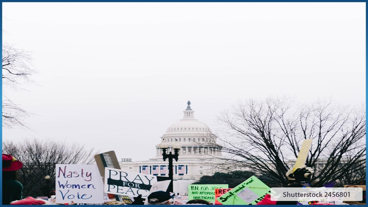 Protest in front of Capitol building