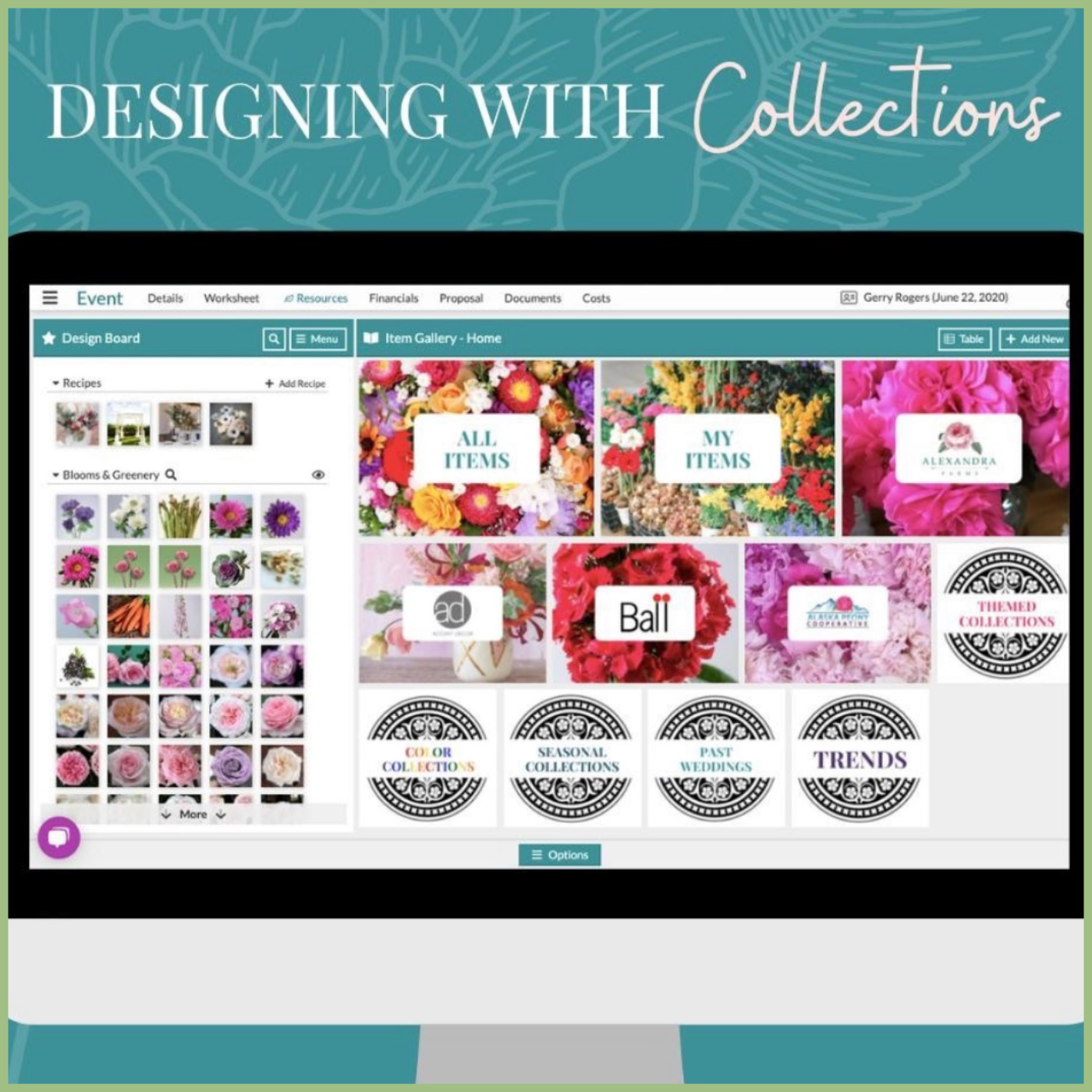 Details flower software for wedding contracts