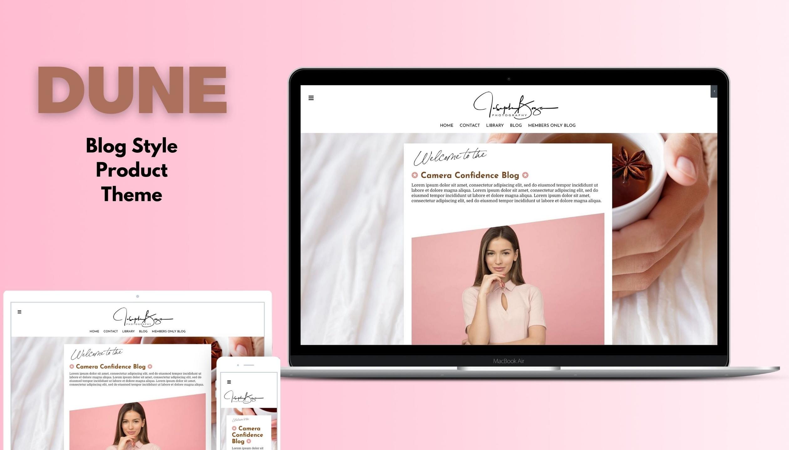 Kajabi product theme templates - Dune