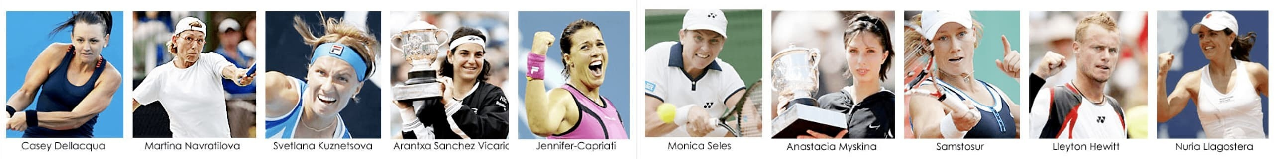 IMAGE OF TENNIS PRO PLAYERS